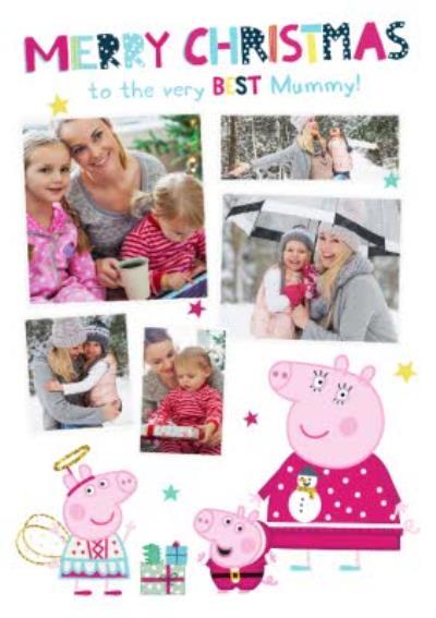 Peppa Pig Best Mummy Photo Upload Christmas card