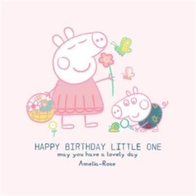 Peppa Pig and George Happy Birthday little one Birthday card
