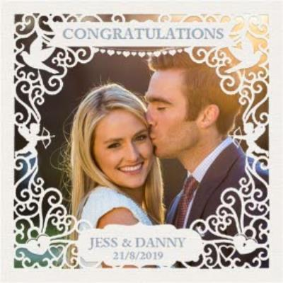 Wedding Card - Photo Upload - Congratulations - Paper Frame