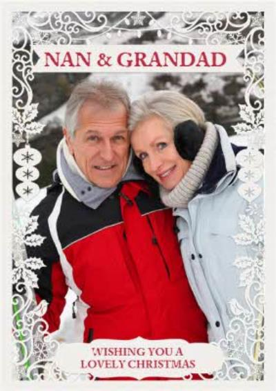 Paper Frames Photo Upload Christmas Card Nan And Grandad Wishing You A Lovely Christmas