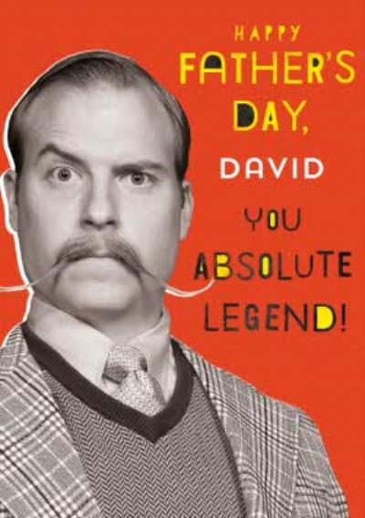 Typographic Photographic Happy Fathers Day You Absolute Legend Card
