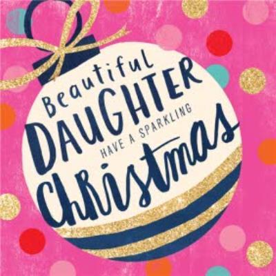 Christmas card - daughter - beautiful