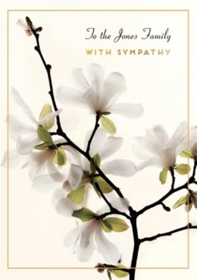 Pigment To The Family Floral Sympathy Card