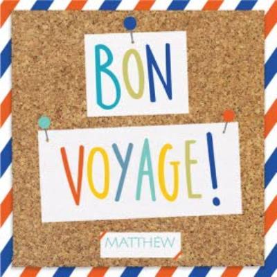 Pinboard Bon Voyage Personalised Card