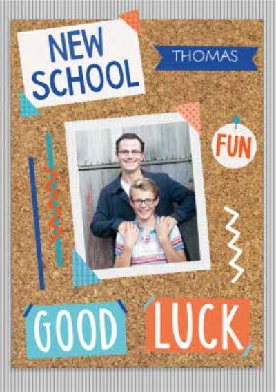 Pinboard New School Photo Upload Card