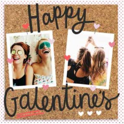 Pinboard Happy Galentines Photo Upload Card