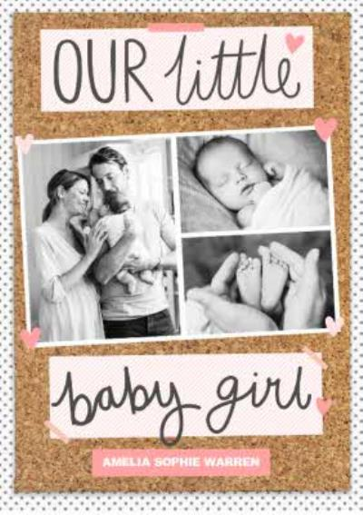 Pinboard Little Baby Girl Photo Upload Card