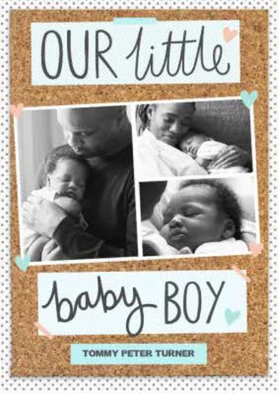 Pinboard Little Baby Boy Photo Upload Card