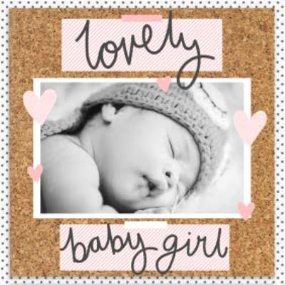Pinboard Lovely Baby Girl Photo Upload Card