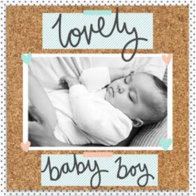 Pinboard Lovely Baby Boy Photo Upload Card