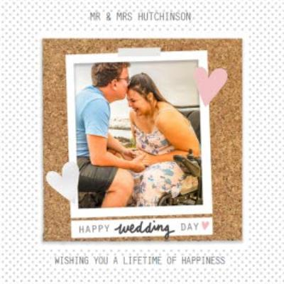Happy Wedding Day And Lifetime Card