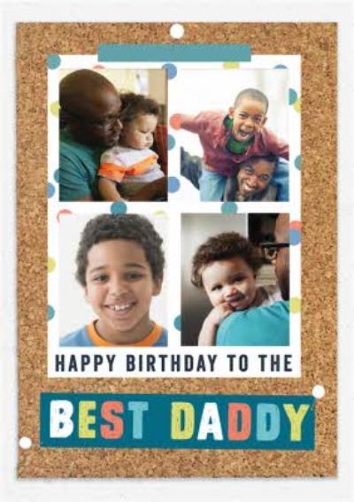 Pinboard Happy Birthday - Photo Upload Postcard - Best Daddy