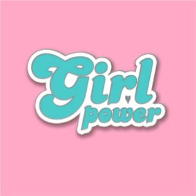 Female Birthday card - for her - Girl Power - pin badge