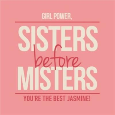 Sisters Before Misters Personalised Card