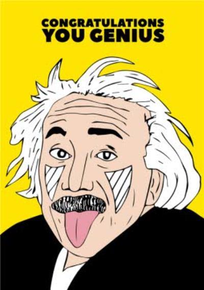 Fun Illustration Congratulations Genius Card