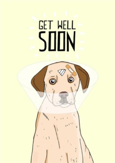Cute Illustration Get Well Card