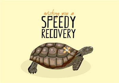Illustration Wishing You Speedy Recovery Card