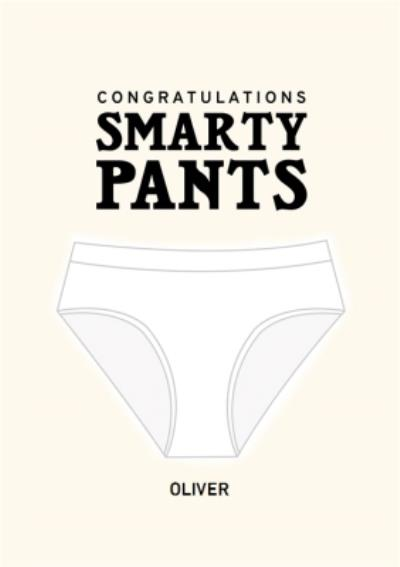 Fun Smarty Pants Exams Congratulations Card