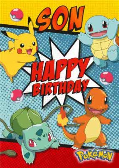 Pokemon Birthday Card - Son, Happy Birthday