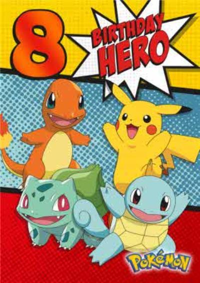 Pokemon Birthday Activity Card - Birthday Hero