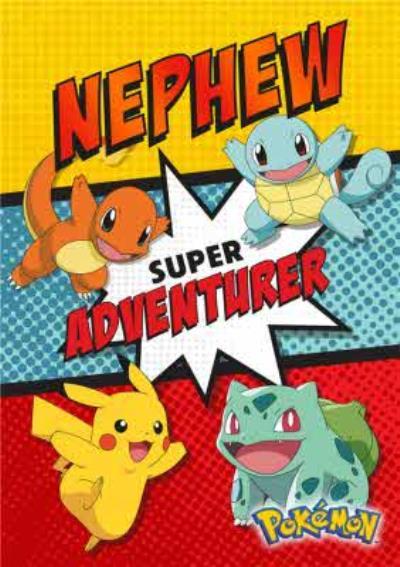 Pokemon Birthday Activity Card - Super Adventurer