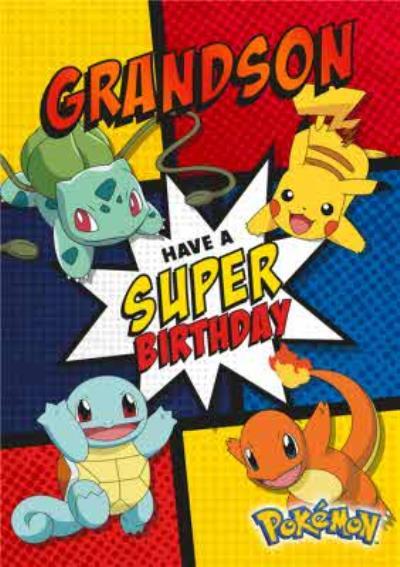 Pokemon Birthday Activity Card - Have a super birthday