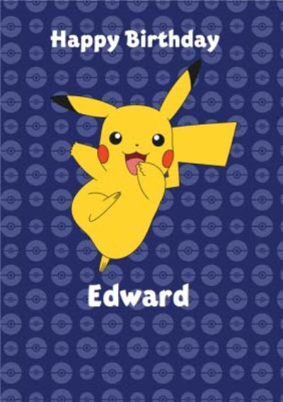 Danilo Pokemon Pikachu Pokeballs Birthday Card