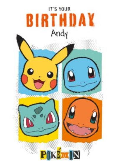 Danilo Pokemon Pikachu And Characters It's Your Birthday Card