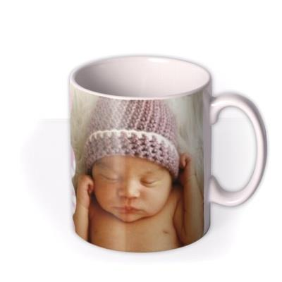 New Baby Pink Photo Upload Mug