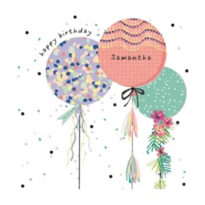 Illustrated Balloon Birthday Card