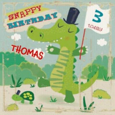 Snappy Birthday Personalised Happy 3rd Birthday Card
