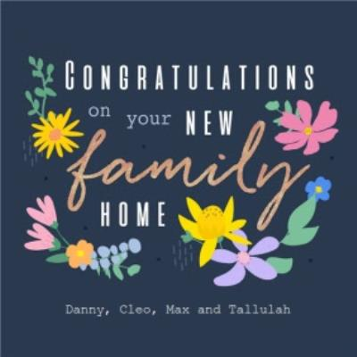 Floral Design Congratulations On Your New Family Home Card