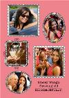 Bright Pink Photo Frame Personalised Card
