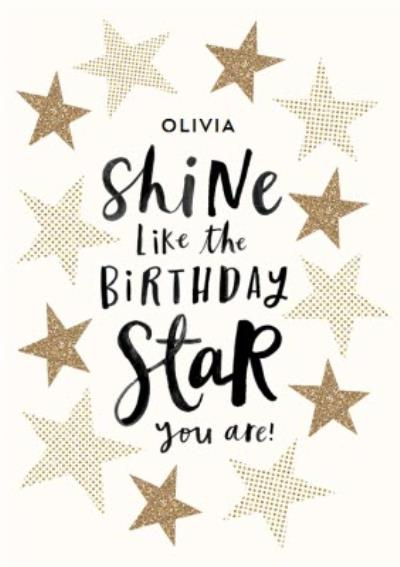 Shine Like The Birthday Star You Are Card