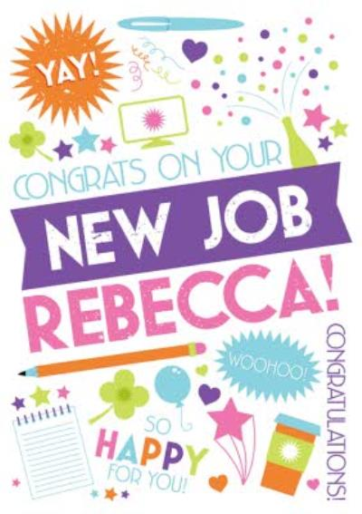 Pick N Mix Personalised Congratulations On Your New Job Card