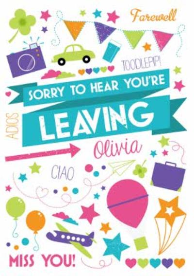 Pick n Mix Farewell Personalised Leaving Card