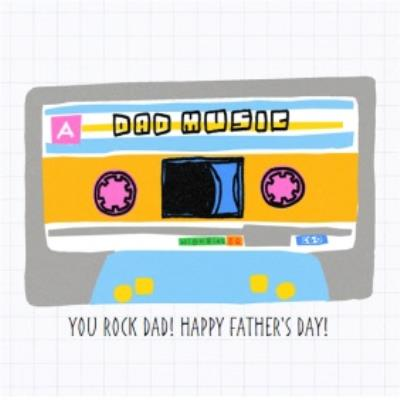 Dad Mixtape Father's Day Card