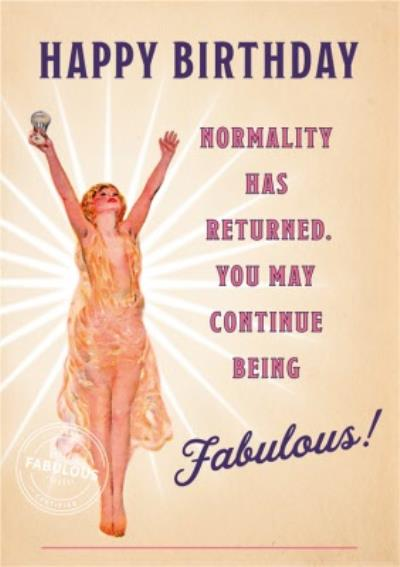 Normality Has Returned Card