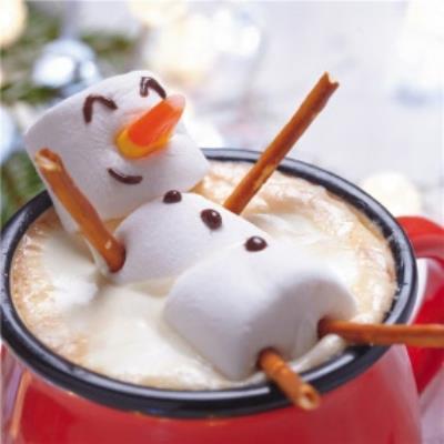 Marshmallow Snowman Christmas Card