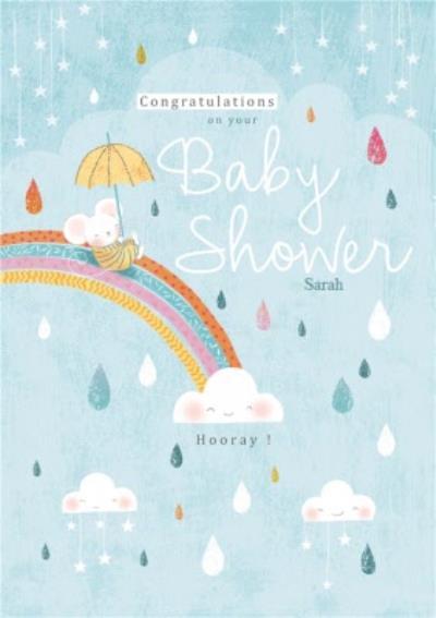 Rainbow Baby Shower Congratulations Card