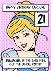 Disney Cinderella If The Shoe Fits, Get The Whole Outfit Personalised Happy Birthday Card