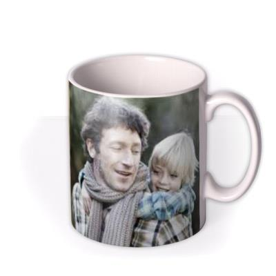 Father's Day Best Dad Ever Brown Photo Upload Mug