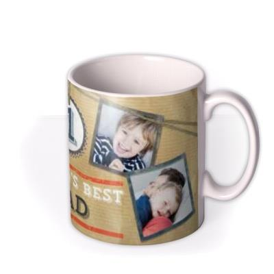 Father's Day No.1 Dad Brown Photo Upload Mug