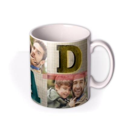 Typography D-A-D Photo Upload Mug