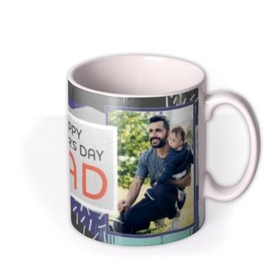 Abstract Background Happy Father's Day Photo Mug