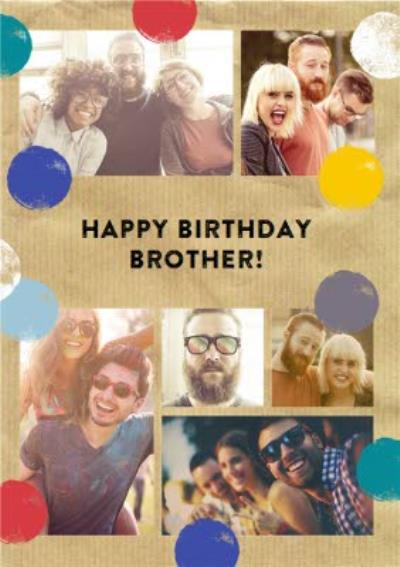 Photo Upload Birthday card - Brother