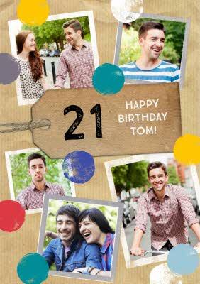 Photo 21st Birthday Card