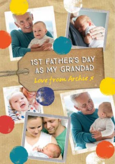 1st Father's Day As A Grandad Photo Upload Card