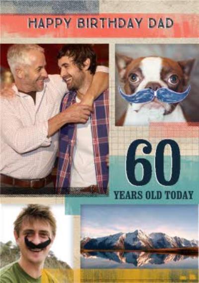 Proper Paper Dad 60th Birthday Photo Upload Card