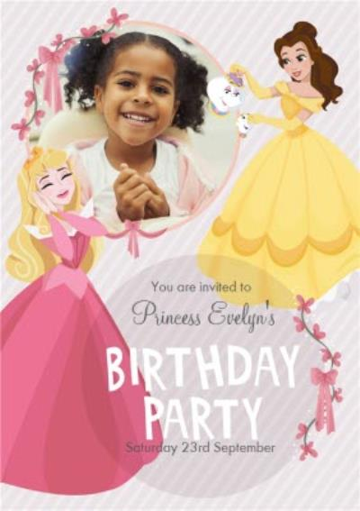 Disney Princess Belle And Aurora Photo Upload Card